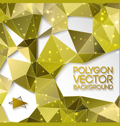 Abstract gold triangle background vector