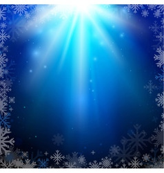 Abstract holiday Christmas blue background vector image