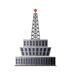 Airport control tower vector