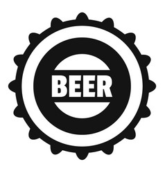 beer cap icon simple style vector image