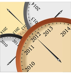 clock 2012 vector image