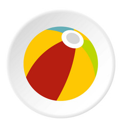 Colorful ball icon circle vector
