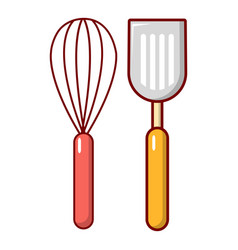 Cutlery bake icon cartoon style vector