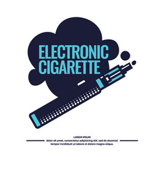 Drawing and poster of electronic cigarette vector