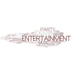 Entertainment word cloud concept vector