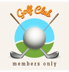 Golf club emblem vector image vector image