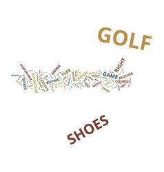 golf shoes and how they can improve your golf vector image vector image