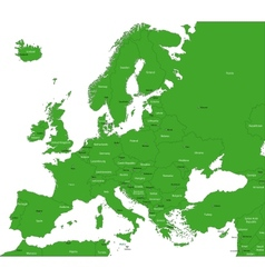 Green Europe map vector image