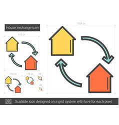 House exchange line icon vector