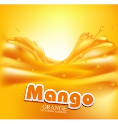 juicy background with splashes of orange juice vector image vector image