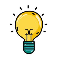 Light bulb idea to creative invention vector