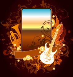 musical instrument frame vector image