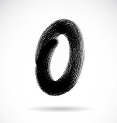 Number zero vector image vector image