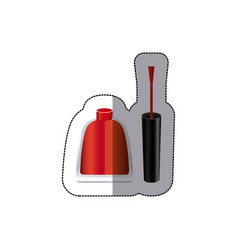 red nails polish icon vector image