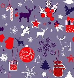 Retro christmas background design vector