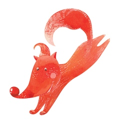 Running fox vector