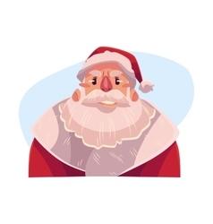 Santa Claus face upset confused facial vector image vector image