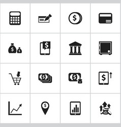 set of 16 editable investment icons includes vector image