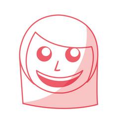 Shadow women face cartoon vector