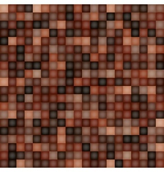 Square Pixel Brown Mosaic Background vector image vector image