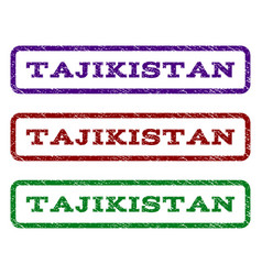 Tajikistan watermark stamp vector