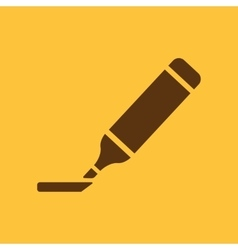 The marker icon Highlighter symbol Flat vector image