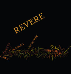 The midnight ride of paul revere text background vector