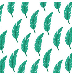 Tropical leaf summer pattern vector
