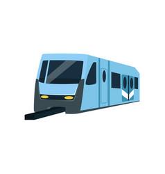 Underground train locomotive subway transport vector