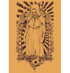 Zombie religious symbol vector