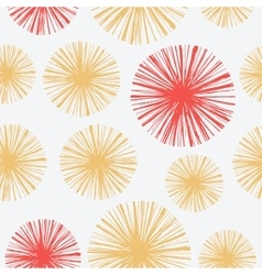 Bright seamless pattern with hand drawn floral vector image