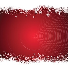 Snowy christmas background vector