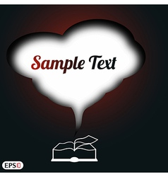 book with space for text vector image