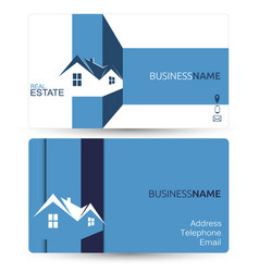 Business card for real estate vector