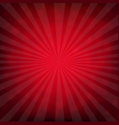 Red burst poster with bokeh vector