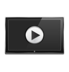 Tv screen with play button vector