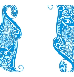Water blue paisley vector