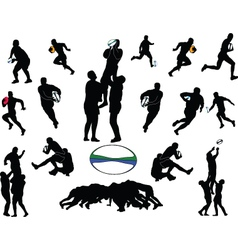 Rugby collection - vector
