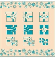 Christmas gifts set vector