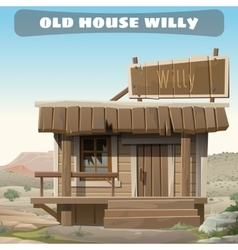 Old abandoned house of a cowboy in the wild west vector