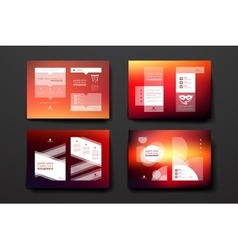 Set of brochure poster design templates in Mardi vector image