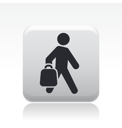 Buy bag icon vector
