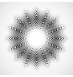 Abstract halftone black and white isolated vector