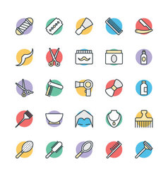 Hair salon cool icons 1 vector