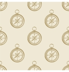 Compass vintage pattern sea naval background vector