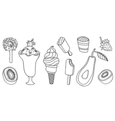 Collection of ice cream vector