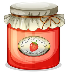 A strawberry jam vector