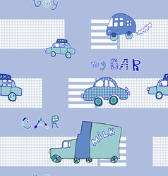 Abstract background seamless baby cars vector