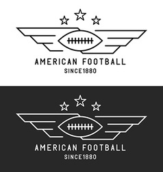 American football ball logo flying with wings vector image vector image