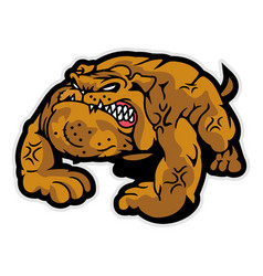 Angry bulldog mascot cartoon character vector